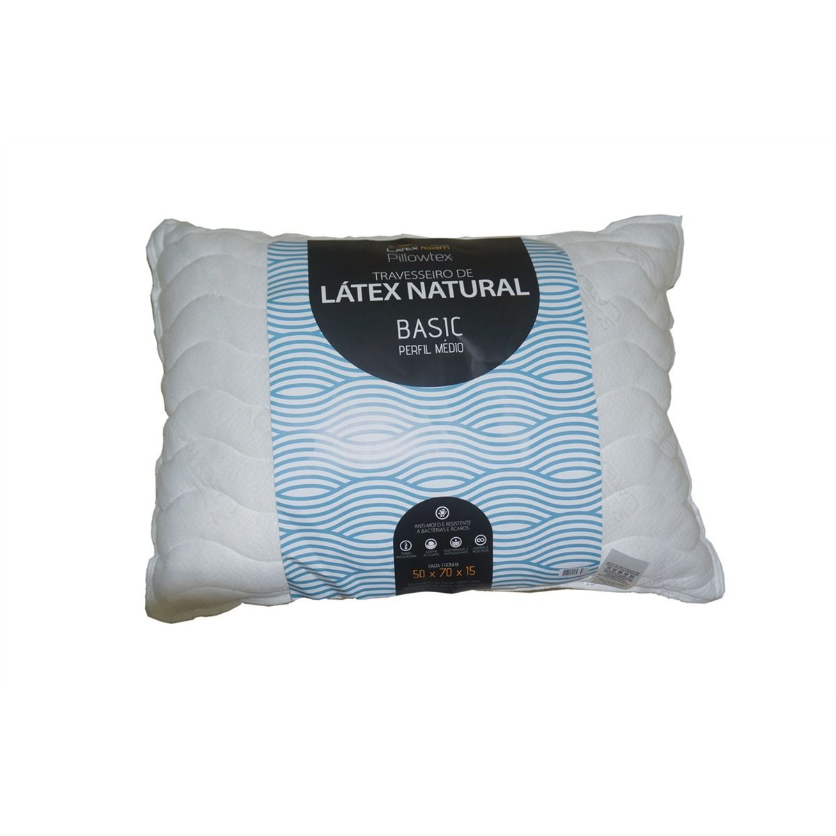 Travesseiro Basic Médio - Látex Foam