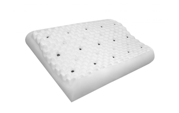 Travesseiro Certificado Espuma Piramidal -  Ergonômico com Magnetos e Infravermelho Longo