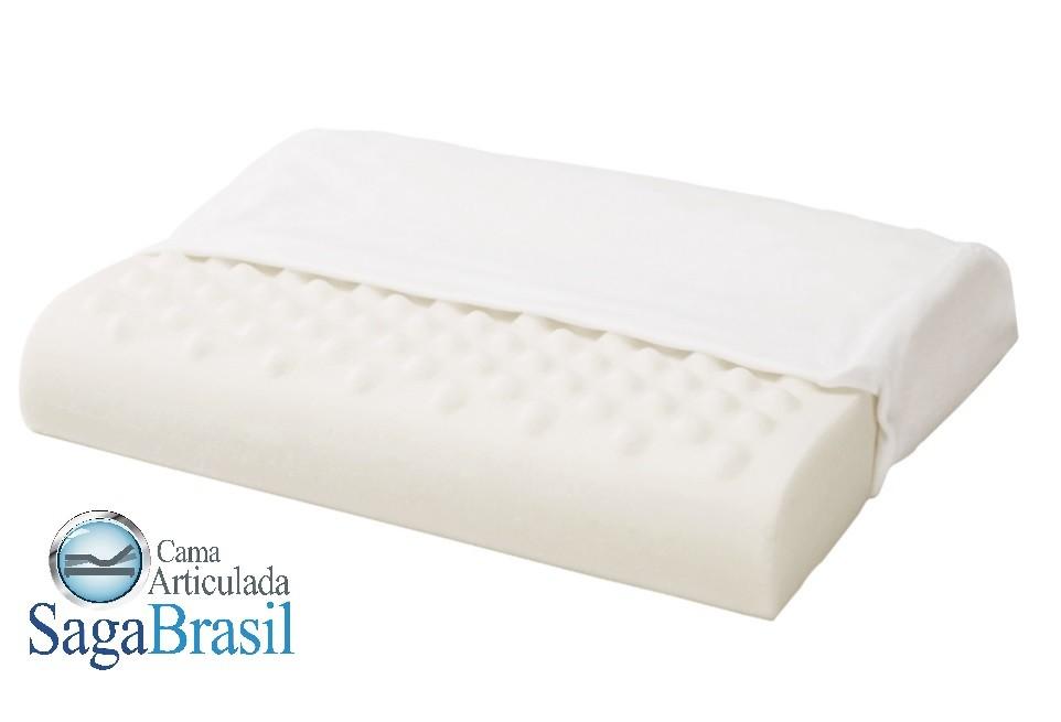 Travesseiro Viscoelástico Mônaco, com gomos