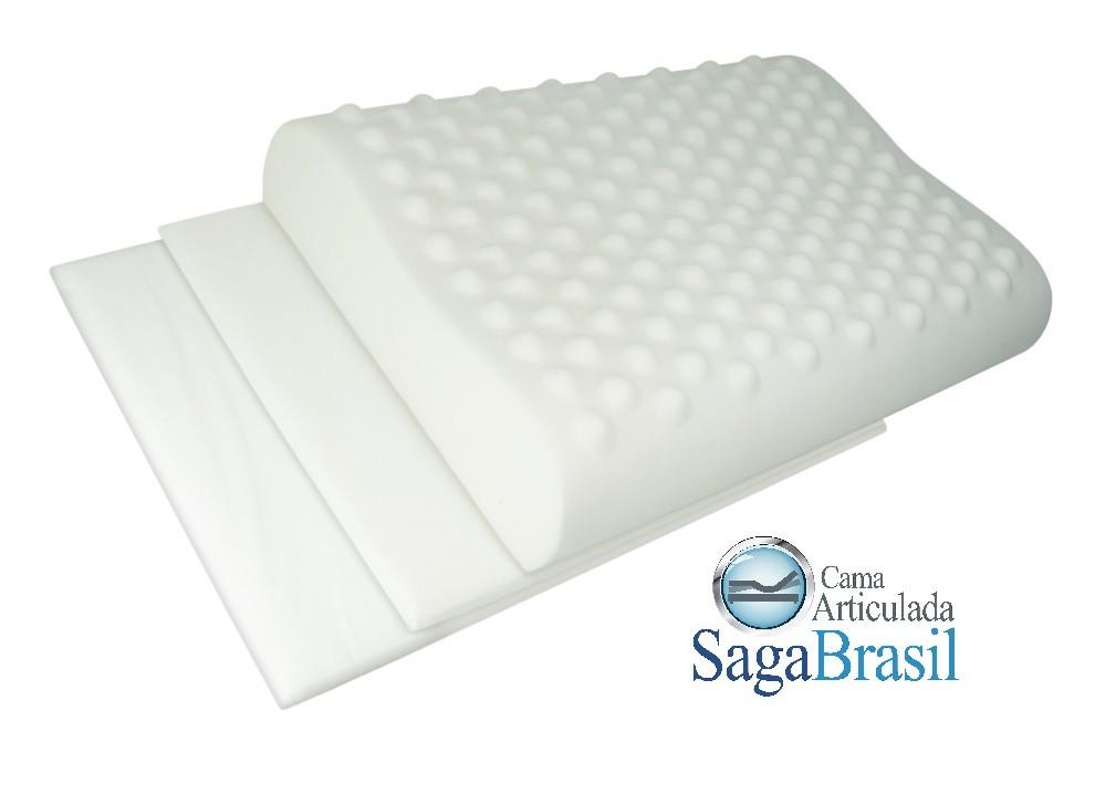 Travesseiro Viscoelástico Multicamadas, com Regulagem de Altura