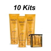 Combo 10 Kits Itallian Trivitt Home Care Trivitt c/ Leave-In Hidratante