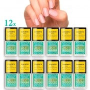 Combo 12 Bases Concreto Endurecedor S.O.S Unhas Top Beauty
