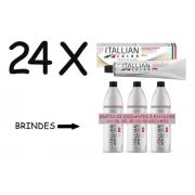 Combo 24 Colorações Itallian Color 60g Profissional Tinta