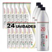 Combo 24 Colorações Itallian Color Tintura Profissional 60g