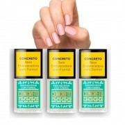 Combo 3 Base Concreto Endurecedor S.O.S Unhas Top Beauty