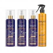 Combo Trivitt 3 Fluido Blonde Matizante + Fluido Escova 300ml