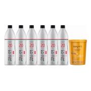 Combo 6 Oxi 20 Volumes Itallian Color + Hidratação Trivitt 1kg
