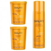 Combo Trivitt Profissional 2 Hidratação 1Kg  + Shampoo Pós Quimica 1Lt