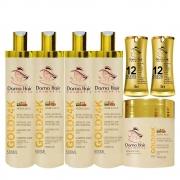 Combo Kit Gold 24k Dama Hair Reconstrução Capilar