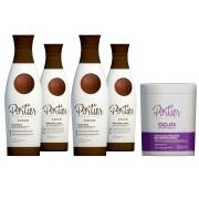 Combo Portier 2 Progressiva Cacao + B-tox Matizador Violet 1Kg