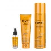 Itallian Trivitt Shampoo 1l + Leave-in + Reparador De Pontas