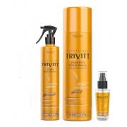 Itallian Trivitt Shampoo + Reparador de  Pontas + Fluído