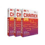 Kit 3 Pacotes Papel Sulfite Branco A4 Chamex Office PCT 500 Folhas
