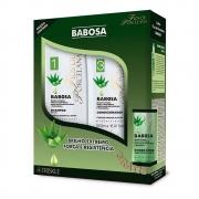 Kit Triskle Babosa Shampoo e condicionador Fios de Porcelana 500ml