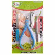 Kit de Manicure - Peças em Aço Inoxidável c/ (4 peças)