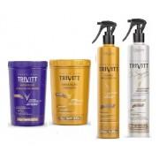 Kit Hidratação Trivitt + Hidratação Matizante + Segredo + Fluído para Escova