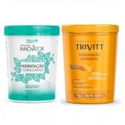 Kit Itallian Hidratação Intensiva Trivtt 1Kg + Hidratação Innovator 1Kg