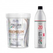 Kit Itallian Color Pó Descolorante Premium + Ox20 Vol. 1000ml
