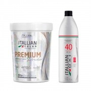 Kit Itallian Color Pó Descolorante Premium + Oxi 40 Vol. 1000ml