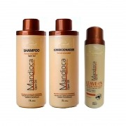 Kit Mandioca Aramath Shampoo + Condicionador + Leave-in