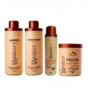 Kit Mandioca Aramath Shampoo + Condicionador + Leave-in + Máscara