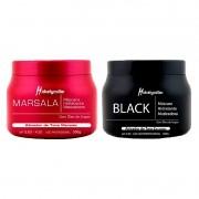 Kit Máscara Marsala + Máscara Black Mairibel 500g