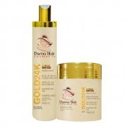 Kit Ouro 24k Dama Hair Shampoo e Máscara 500g