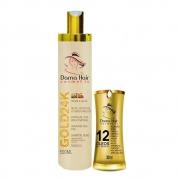 Kit Ouro 24k Reconstrução Dama Hair Shampoo e Finalizador