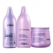 Kit Shampoo + Condicionador + Máscara Capilar Liss Unlimited 250ml  L'oréal Professionnel