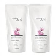 Kit Shampoo + Condicionador Plant Revitalização Pós Química - Refil 300ml