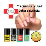 Kit SOS Unhas Top Beauty Tratamento das Unhas e Cutículas