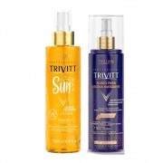 Kit Finalizadores Trivitt Fluido Escova Matizador + Fluido Protetor Sun