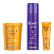 Kit Trivitt Matizante Shampoo e Hidratação 1kg + Leave-in
