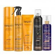 Kit Trivitt Profissional Manutenção Para Cabelos Loiros (5 Itens)
