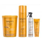 Kit Trivitt Shampoo 1l + Leave-in, Máscara 1kg, O Segredo