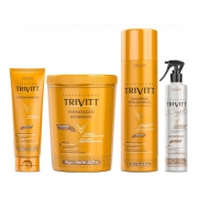 Kit Trivitt Shampoo 1l + Leave-in, Máscara 1kg, O Segredo + Power Oil