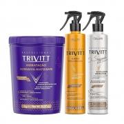 Kit Trivtt Hidratação Matizante + Fluido + Reconstrutor Capilar (3 Itens)