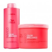 Kit Wella Shampoo e Máscara Invigo Color Brilliance