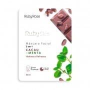 Máscara Facial Ruby Skin Cacau Menta Ruby Rose 25ml