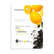 Máscara Facial Ruby Skin Limão Carvão Ruby Rose 25ml