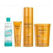 Trivitt Shampoo 1l + Máscara 1kg + Leave-in + Nutrilipídica