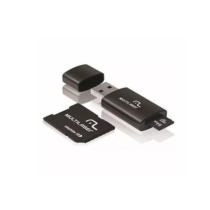 Kit 3 em 1 Pen Dirve + Adaptador  Sd + Cartão de Memória 64GB Multilaser