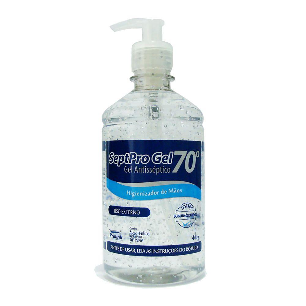 Álcool em Gel Higienizante p/ Mãos Septpro 70° 440g - (2 Un)