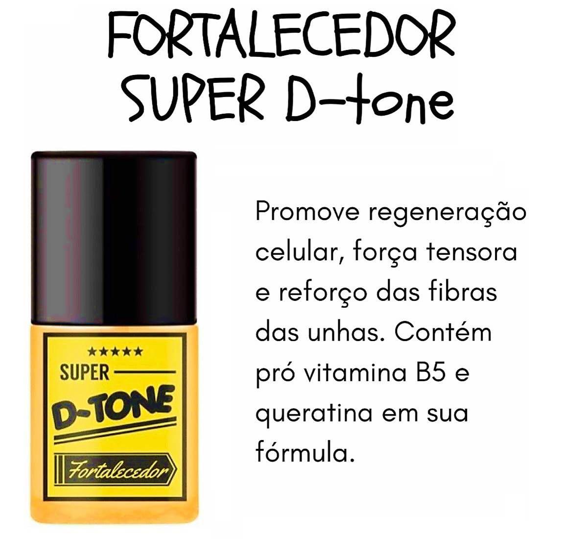 Base Super D-Tone Fortalecedor SOS Unhas Top Beayty 7ml