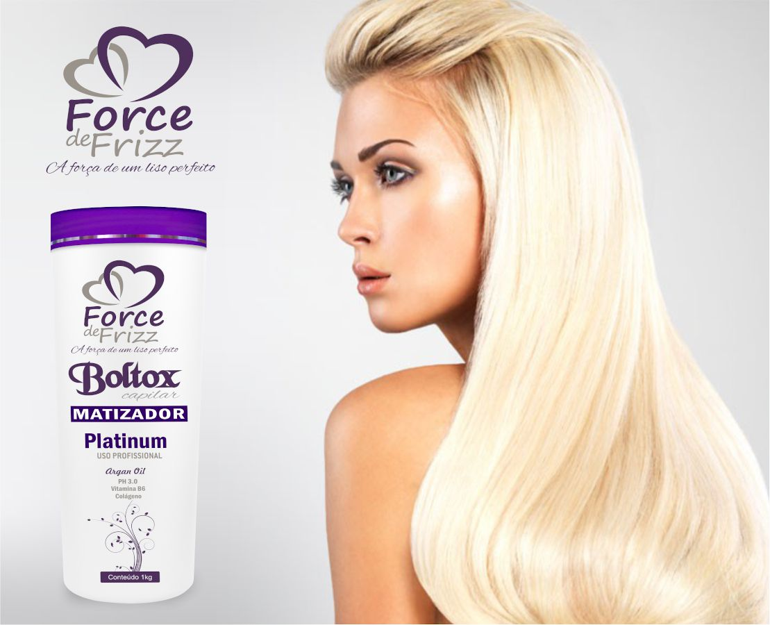 Botox Capilar Force de Frizz Boltox Matizador Platinum 1Kg