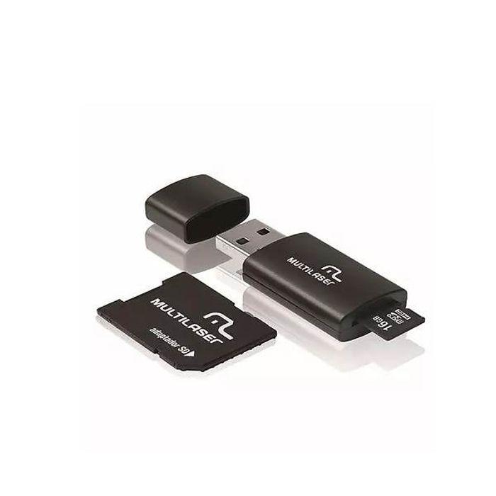 Kit 3 em 1 Pen Dirve + Adaptador Sd + Cartão de Memória 16GB Multilaser
