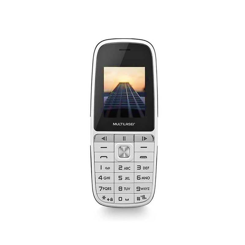 Celular UP Play Dual Chip MP3 com Câmera Branco - Multilaser
