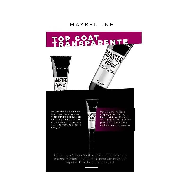 Gloss Maybelline Master Vinil Top Coat 10ml