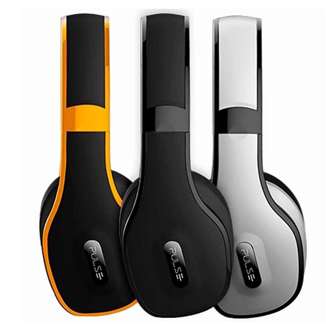 Headphone Over-Ear Stereo Áudio Pulse Amarelo - PH148
