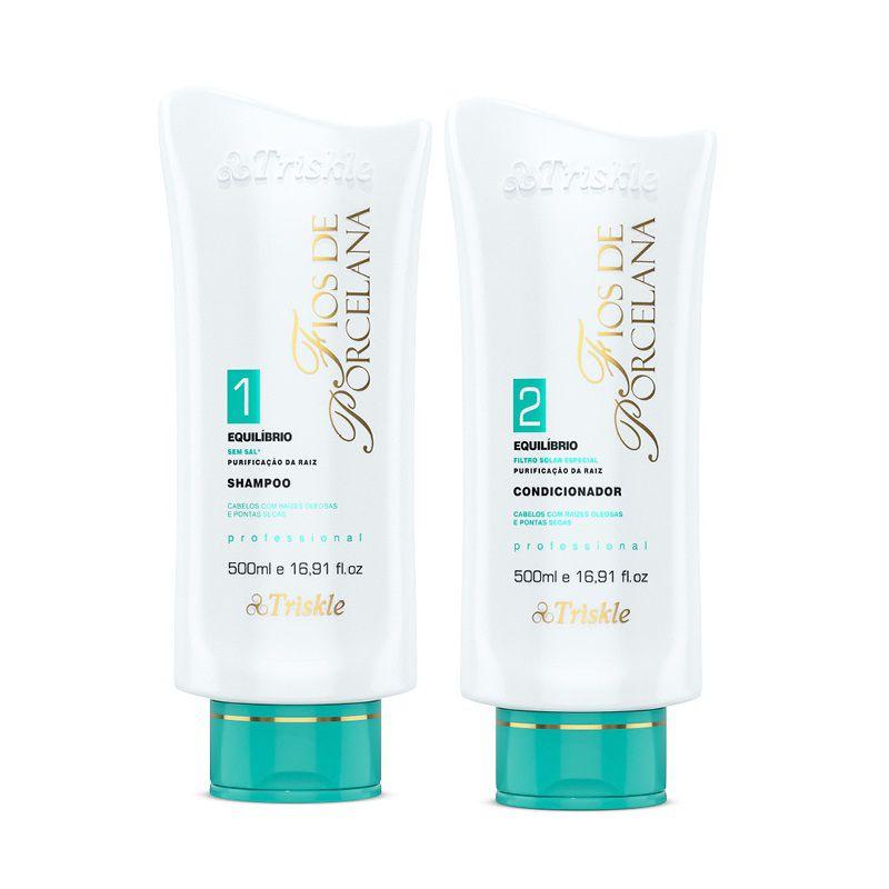 Kit Shampoo e Condicionador Equilíbrio Fios de Porcelana (2 Itens